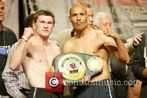 Ricky Hatton and Jose Luis Castillo Junior Welterweight IBO Championship Weigh-Ins at the Thomas and Mack Center Las Vegas, Nevada...