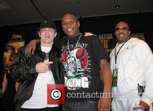 Ricky Hatton and Floyd Mayweather at the press conference following their fight at the MGM Grand. Mayweather defeated the English...