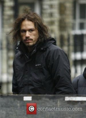 Heath Ledger sporting a beard, on the set of his new film 'The Imaginarium of Doctor Parnassus' London, England -...