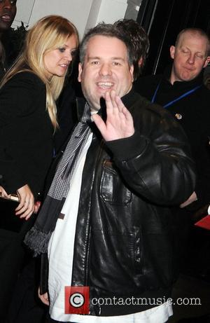 Chris Moyles leaving the Universal records afterparty for the Brit Awards, held at the Hemple Hotel London, England - 21.02.08