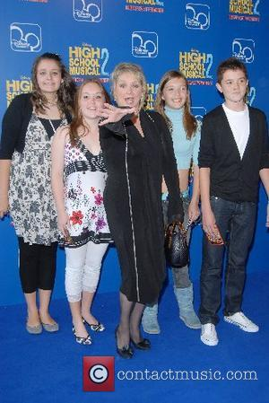 Cheryl Baker and family High School Musical 2 - premiere Vue Cinema, The O�, Peninsula Square London, England - 02.09.07