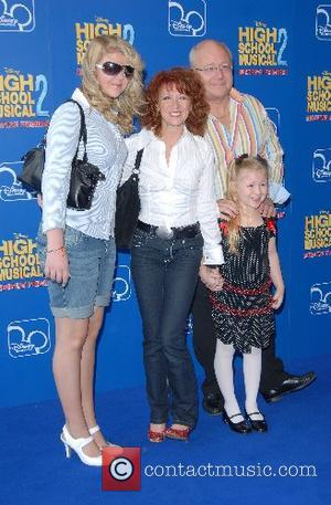 Bonnie Langford and family High School Musical 2 - premiere Vue Cinema, The O�, Peninsula Square London, England - 02.09.07