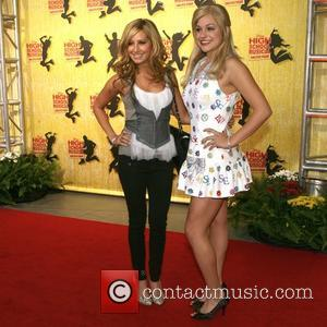 Ashley Tisdale and guest Gala of Disney's High School Musical: The Ice Tour - Red Carpet arrivals Los Angeles, California...