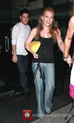 Hilary Duff, her hockey player boyfriend, Mike Comrie and leaving Mr. Chow