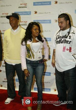 Russell Simmons and Lil Mo