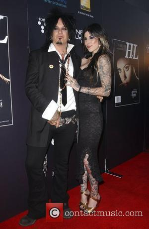 Nikki Sixx and tattoo artist Kat Von D Hollywood Life Magazine's 10th Annual Young Hollywood Awards held at The Avalon...
