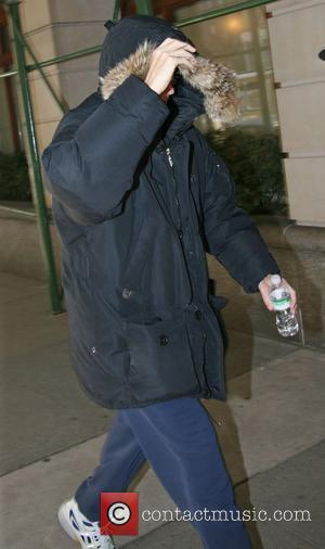 Howard Stern tries to hide under his hoodie while out walking in Manhattan New York City, USA - 20.02.08