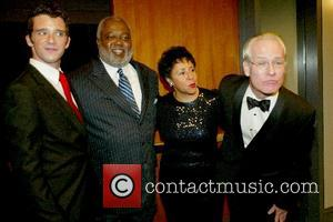 Michael Urie, Dr. Sheila Johson With Husband and Tim Gunn