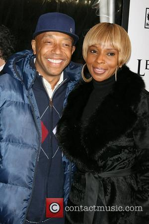 Russell Simmons and Mary J Blige