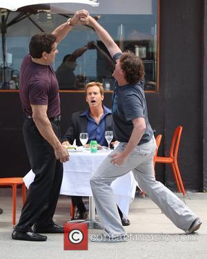 Lou Ferrigno, Rob Huebel and Jason Segel