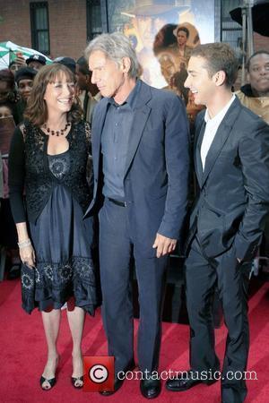 Karen Allen and Harrison Ford