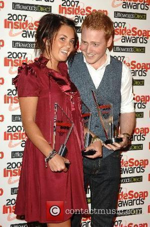 Lacey Turner and Charlie Clements with the Best Couple Award Inside Soap Awards 2007 held at Gilgamesh London, England -...