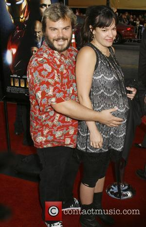 Jack Black and Tanya Haden  Los Angeles Premiere of 'Iron Man' held at  Grauman's Chinese Theatre Hollywood, California...
