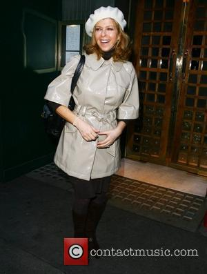 Kate Garraway Leaving the Ivy restaurant after having lunch London, England - 06.02.08