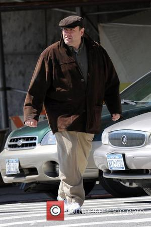 James Gandolfini on the film set of 'The Taking of Pelham 123' in which Gandolfini will play the mayor of...