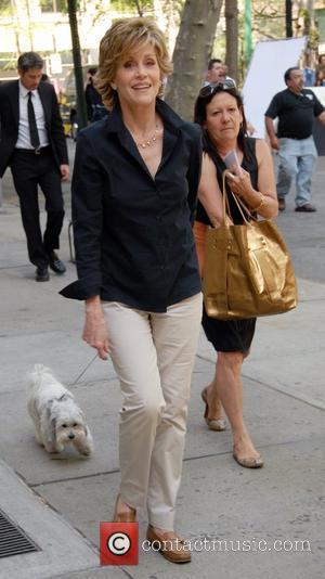 Fonda Speaks At Anti-war Rally