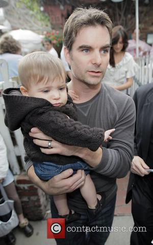 American race car driver Jeff Gordon and his son leaving the Ivy restaurant Los Angeles, California - 21.02.08