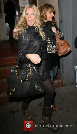 Jennifer Ellison and Tracey Ann-Oberman in high spirits heading to the pub,  London, England - 06.11.07