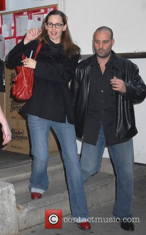 Jennifer Garner leaving Richard Rodgers Theatre after performing in the Broadway play 'Cyrano De Bergerac'  New York City, USA...