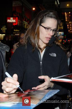 Jennifer Garner arriving at the Richard Rodgers Theatre for her performance in 'Cyrano de Bergerac' New York City, USA -...