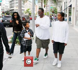 Jermaine Jackson with his ex-partner Margaret Maldonado Jackson and their sons, Jourdynn and Jeremy shopping in Beverly Hills California, USA -...