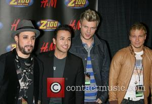 Backtsreet Boys (AJ McLean, Howie Dorough, Nick Carter, Brian Littrell) Z100's Jingle Ball 2007 at Madison Square Garden - Press...