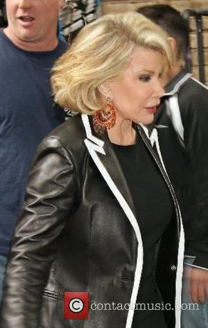 Joan Rivers leaving ABC Studios after appearing on 'Live with Regis and Kelly' show New York City, USA - 14.06.07