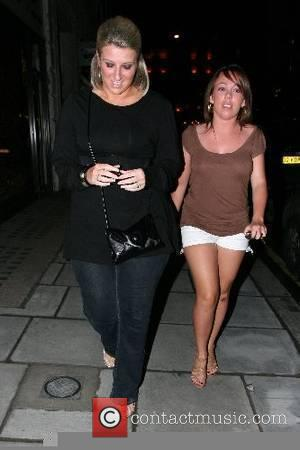 Joanne Beckham and a friend arriving at Funky Buddha nightclub London, England - 15.05.07