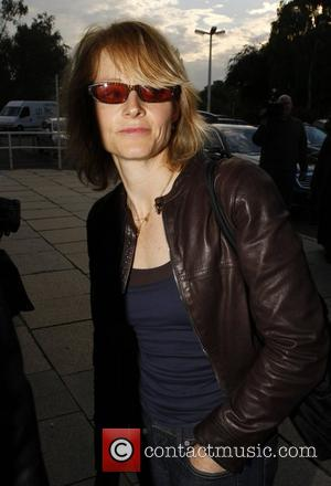 Jodie Foster at Tempelhof Airport leaving Berlin after her European premiere of