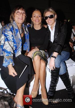 Hilary Alexander, Elen Rives and guest London Fashion Week Spring/Summer 2008 - The John Rocha catwalk show - Runway London,...