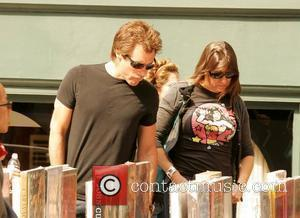 Jon Bon Jovi and his wife Dorothea Hurley do some shopping on the street in SoHo New York City, USA...
