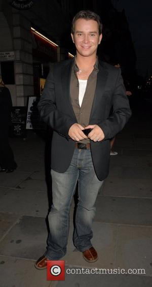 Stephen Gately leaving the press night for the musical, 'Joseph and his Technicolour Dreamcoat ' at the Adelphi Theatre London,...