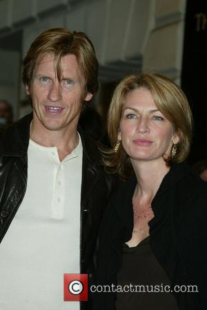 Denis Leary and his wife Ann Lembeck Opening night of 'The Country Girl' at the Bernard B. Jacobs Theatre New...