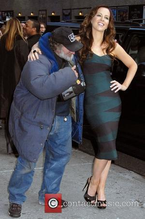 Kate Beckinsale and David Letterman