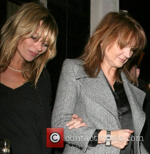 Kate Moss and her mother Linda Moss dine at Locanda Locatelli restaurant in Marylebone. They are bizzarely accompanied by David...
