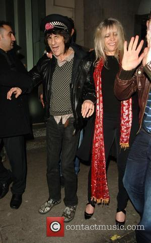 Ronnie Wood and Kate Moss