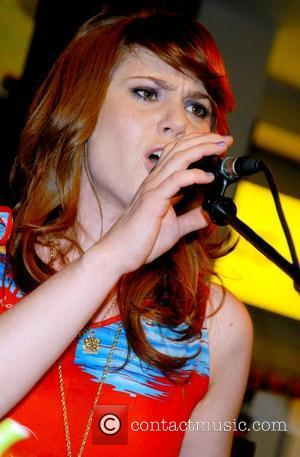 Kate Nash performs live and signs copies of her new CD 'Made Of Bricks' at HMV Oxford Street London, England...