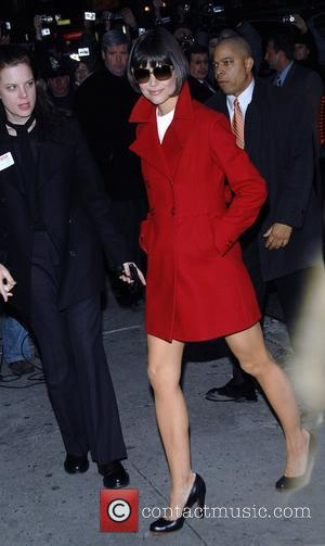 Katie Holmes and David Letterman