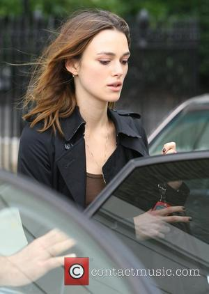 Keira Knightley rushes from her home into a chauffer driven car which quickly drives her away. Keira's new film 'Atonement'...