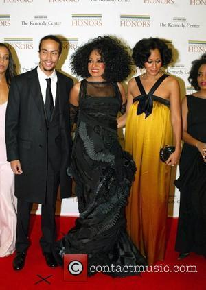 Diana Ross and family