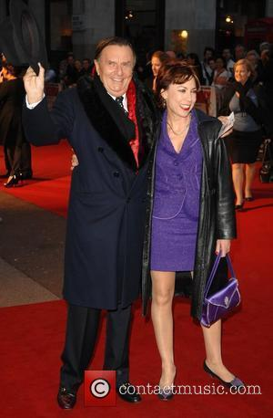 Sir Barry Humphries and Kathy Lette 'Kenny' - UK film premiere held at the Odeon West End London, England -...