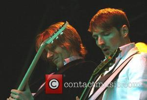 Kevin Jeremiah and Dan Gillespie Sells  The Feeling performing live at The Kent Music Festival held at Port Lympne...