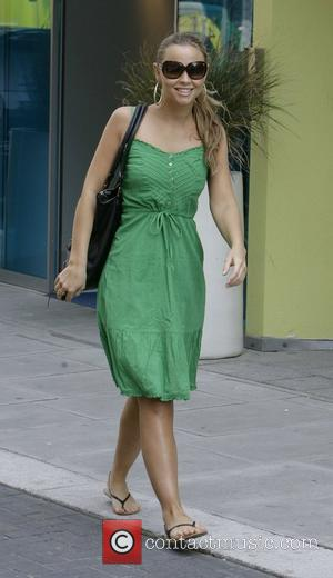 Girls Aloud member Kimberley Walsh, leaving her hotel to go shopping. Brighton, England - 14.05.08