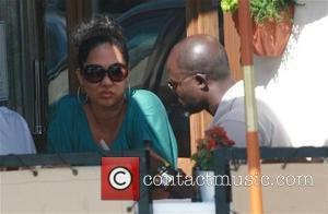 Kimora Lee Simmons and Djimon Hounsou