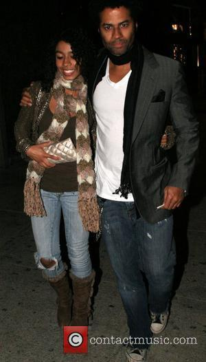 Eric Benet with his daughter India at Koi Restaurant in West Hollywood Los Angeles, California - 06.12.07