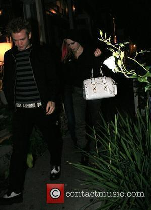 Deryck Whibley and Avril Lavigne arriving at Koi Restaurant West Hollywood, California - 11.11.07