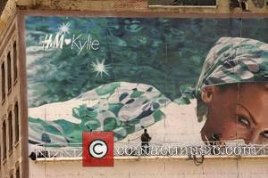 Kylie Minogue Handpainted mural for the new