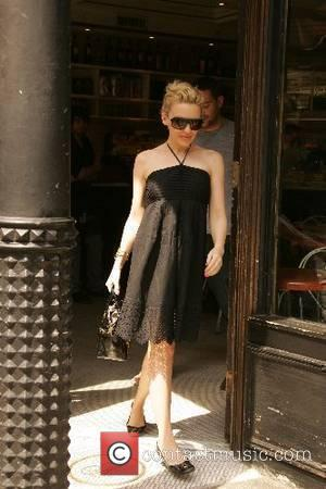 Kylie Minogue leaves a restaurant with a mystery man after having lunch New York City, USA - 15.05.07