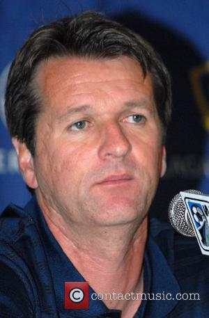 LA Galaxy head couch Frank Yallop Los Angeles Galaxy and New York Red Bulls press conference at the Intercontinental Hotel...