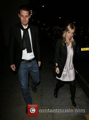 Jamie Redknapp and Louise Redknapp leaving the relaunch party of La Brasserie restaurant London, England - 14.11.07
